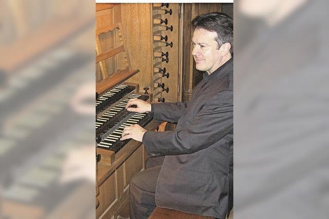 Daniel Maurer in der Pfarrkirche St. Pankratius in Buchholz