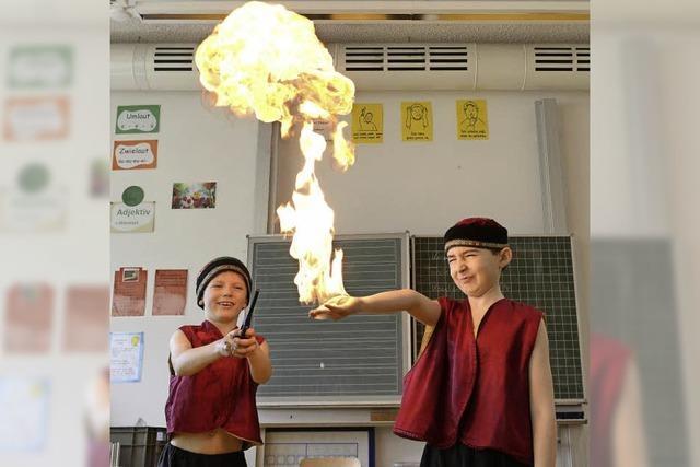 Warum an der Ebneter Feyel-Schule in dieser Woche richtig Zirkus ist