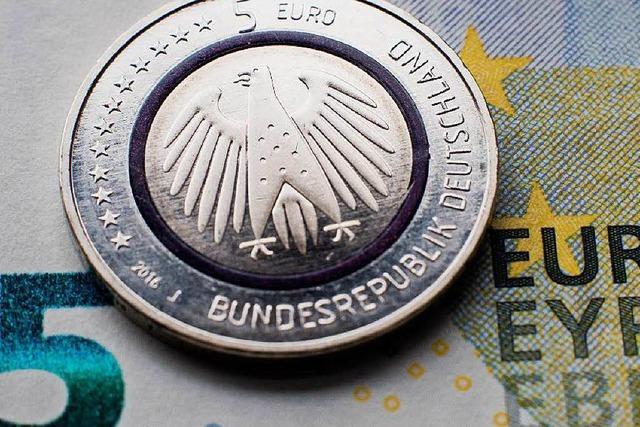 In Freiburg sind die neuen Fünf-Euro-Münzen fast ausverkauft