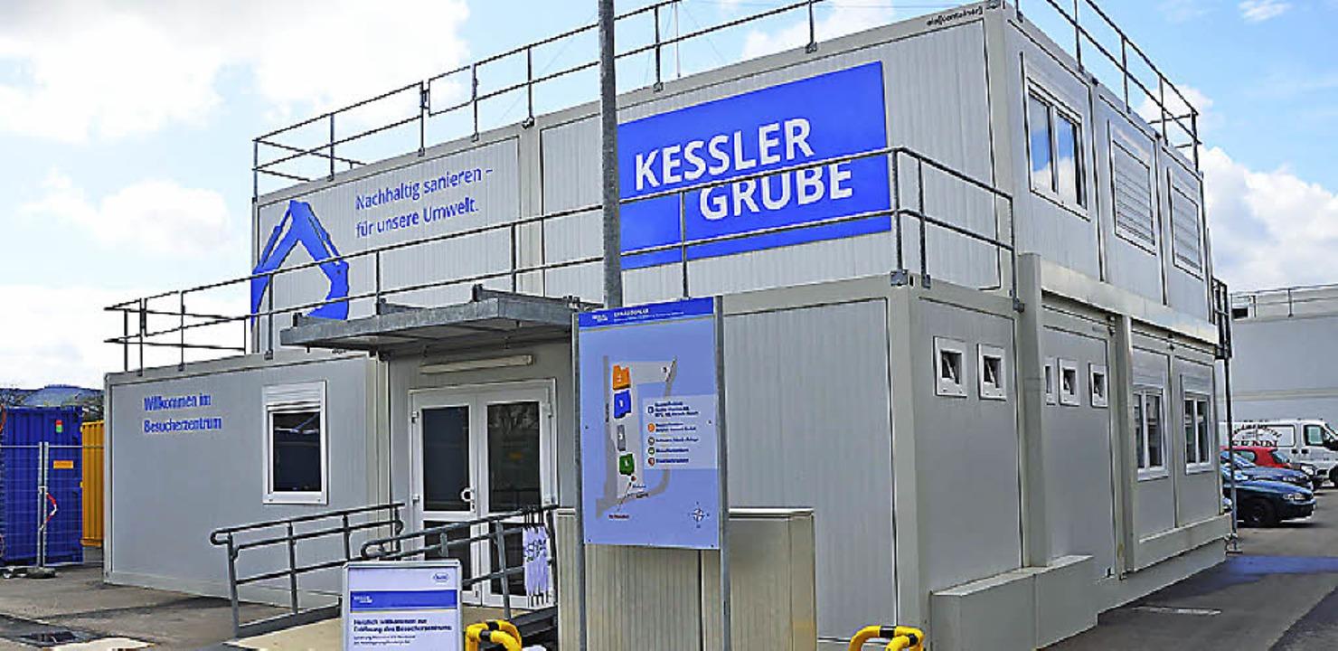 Das Besucherzentrum ist in Containern ...ben der Kesslergrube aufgestellt sind.  | Foto: Ralf H. Dorweiler