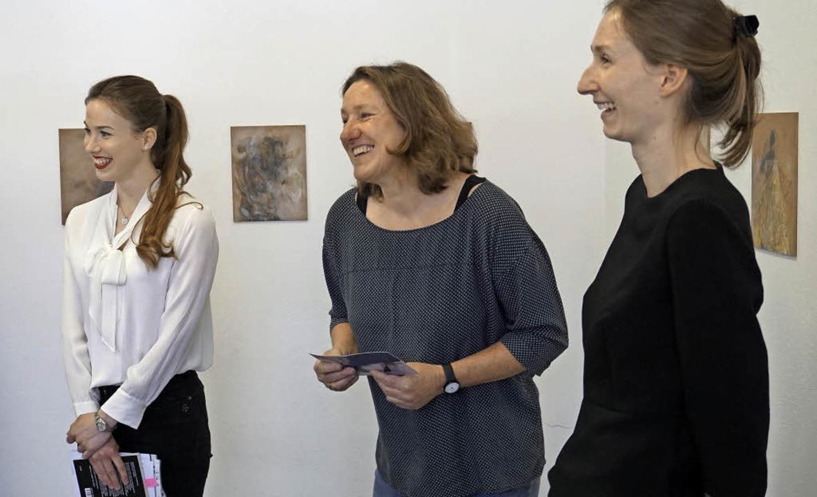 Gute Laune herrschte während der Verni...stlerin Elisabeth Zeller (von links).   | Foto: Steckmeister