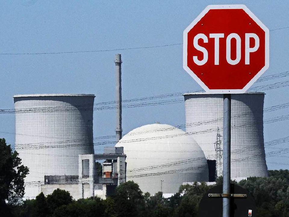 Das Atomkraftwerk Biblis ist mittlerwe...15 Sicherheitskontrollen vorgetäuscht.  | Foto: dpa