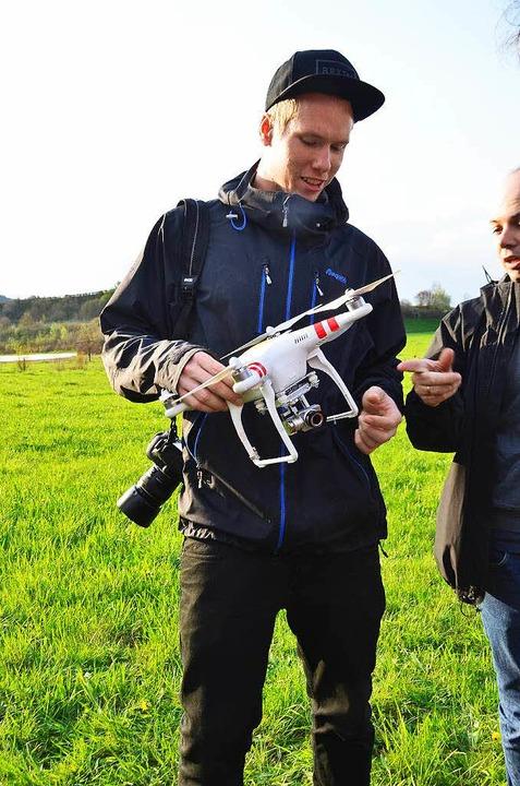 Ein Quadrokopter kann kleinräumig Luft...n Modellierung der Landschaft liefern.  | Foto: Manfred Frietsch