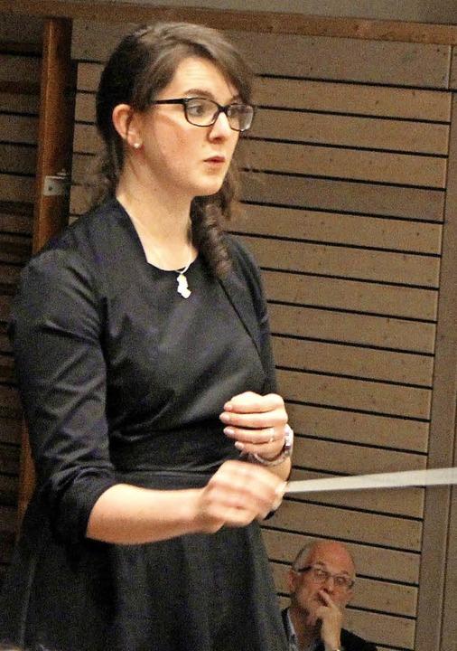 Marina Reichmann hat es geschafft, das...eitungszeit als Einheit präsentierten.  | Foto: Anja Bertsch