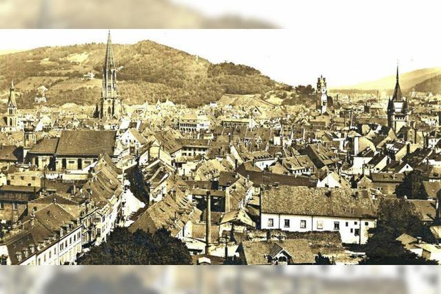 Wie die Aussicht vom Freiburger Stadttheater 1912 war