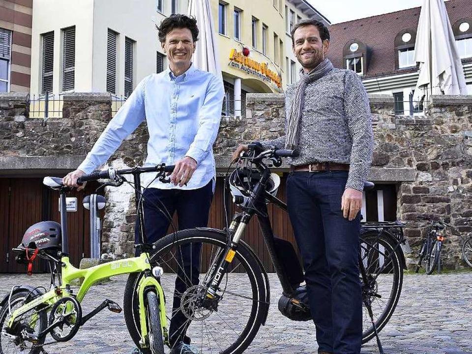 Die Leaserad-Geschäftsführer Holger Tumat (li.) und Ulrich Prediger  | Foto: Thomas Kunz
