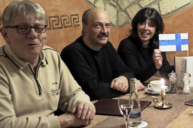 Auch Finnisch im Café Polyglott