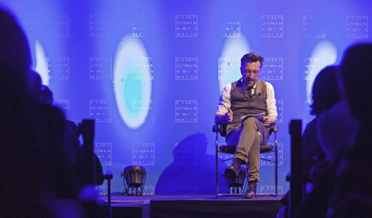Lukas Bärfuss bei seiner Lesung beim Literaturfestival in Ascona   | Foto: Promo