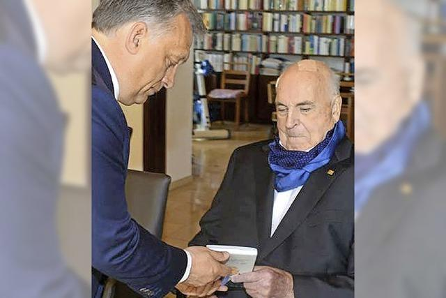 Viktor Orban besucht Altkanzler Helmut Kohl