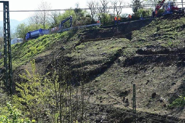 Erneuter Erdrutsch: Ein Gleis wieder frei