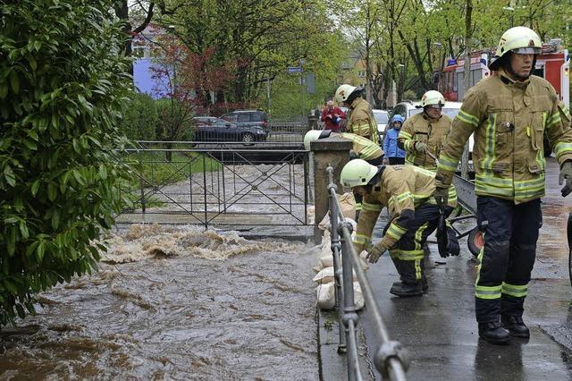 Ohne das neue Rückhaltebecken wäre die Überschwemmung in Freiburg heftiger ausgefallen