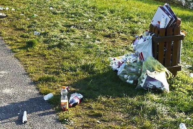 Schüler hinterlassen Müll am Baggersee – und räumen tags darauf wieder auf