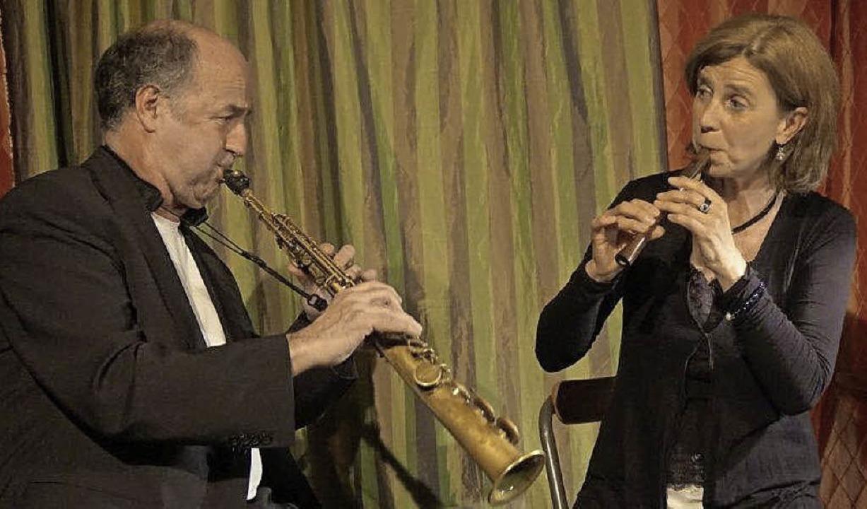 Petra Gack und  Mike Schweizer beim Robert-Gernhardt-Abend     Foto: Freyer