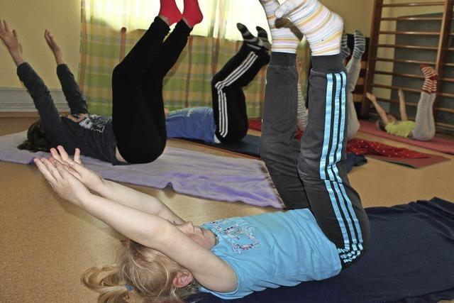 Yoga hilft auch Kindern beim Entspannen