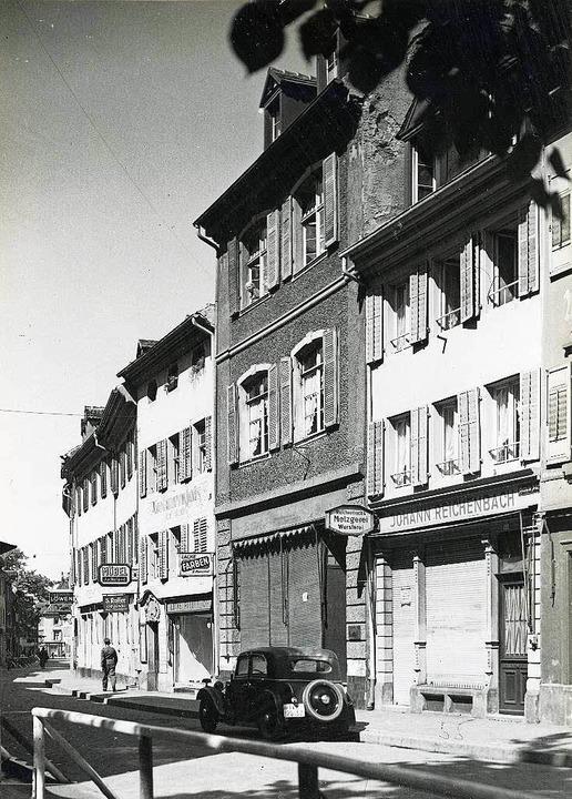 Das ehemalige Haus der Familie von Fre...nstraße 43, fotografiert im Jahr 1943.    Foto: Stadtarchiv