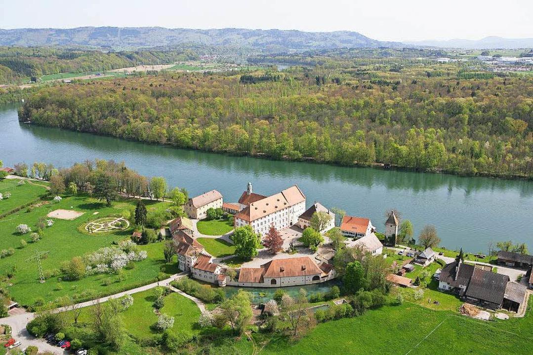 Schloss Beuggen aus der Vogelperspektive  | Foto: dpa