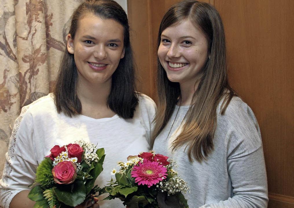 Neue Kindertrainerinnen beim TV: Julia Kern (links) und Corinna Gut   | Foto: Fröse