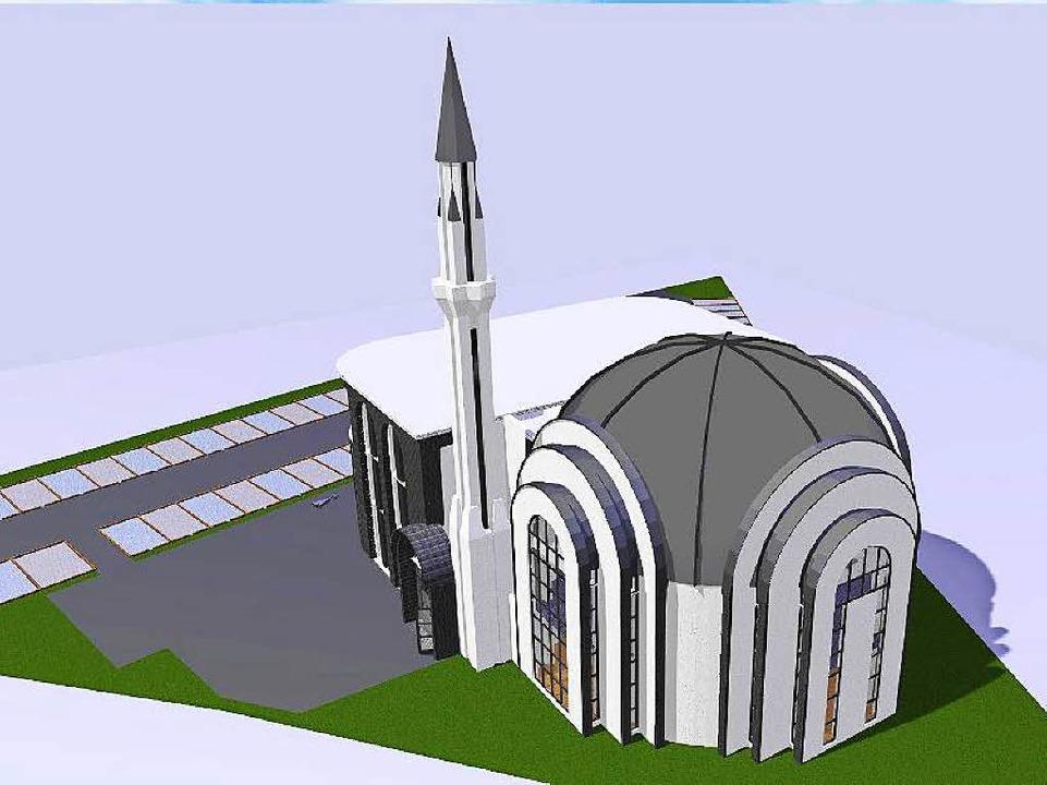 So soll die neue Moschee in Lahr einmal aussehen.    Foto: Privat