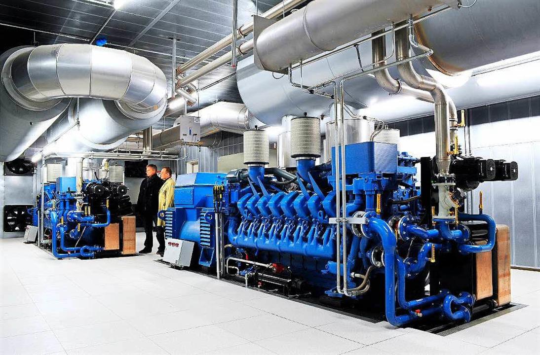 Die Notstromaggregate übernehmen die Energieversorgung in der Uniklinik.  | Foto: Thomas Kunz