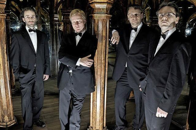 Zemlinsky-Quartett und Mitglieder des Prazák-Quartetts in Badenweiler