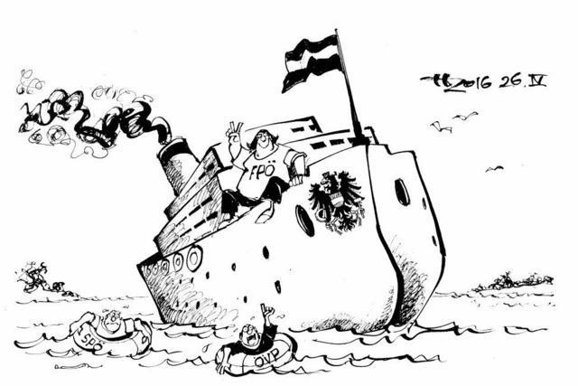 Donaudampfschiff mit rechter Schlagseite