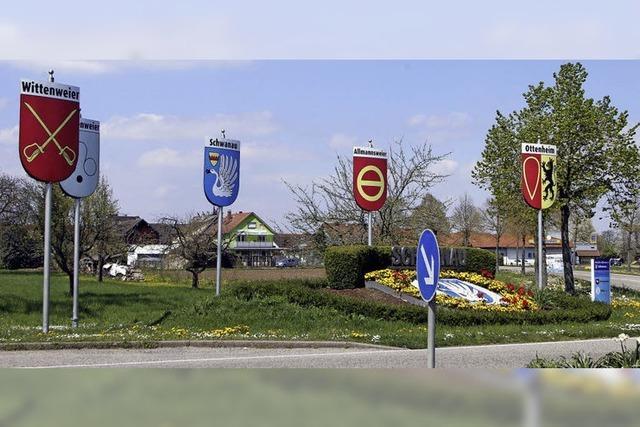 Alle Wappen in Allmannsweier versammelt