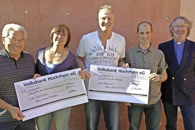 Spende für Konradsaal-Sanierung