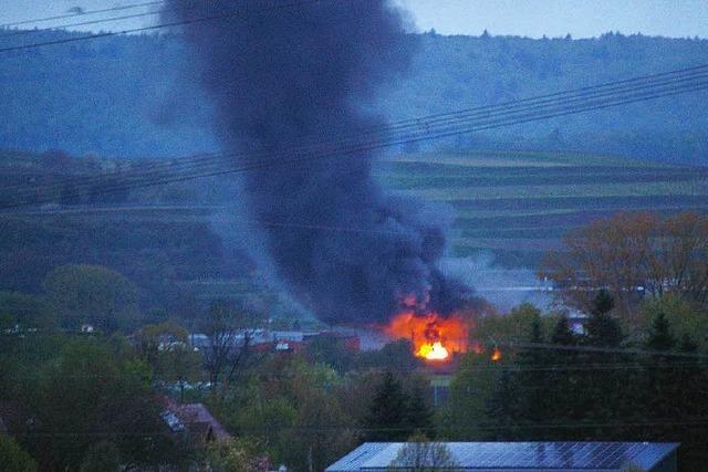 Brand bei Hurter Bauschutt-Recycling in Malterdingen