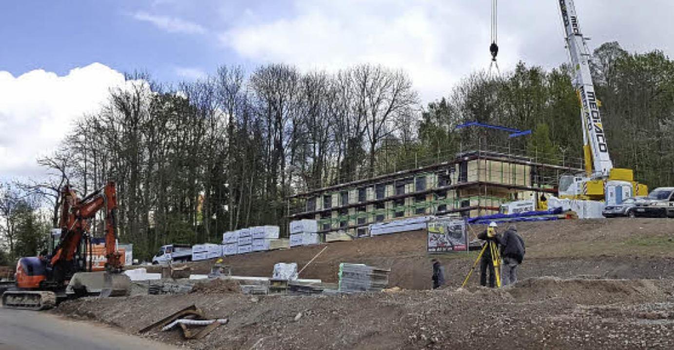 Die Bauarbeiten haben bereits begonnen.     Foto: Sabina Kist