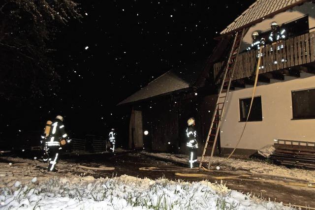 Klar: Schnee bei Übung am Winterberg