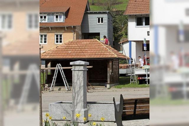 Neues Dach für Buswartehaus