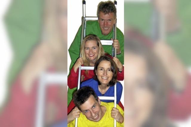 Die rote Nicola, die blaue Barbara, der gelbe Christian und der grüne Roland in Niederweiler