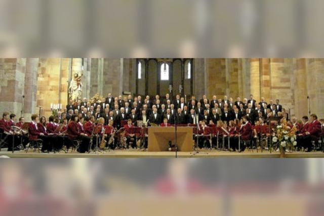 Männerchor Hanauerland und Stadtkapelle Freistett im Münster