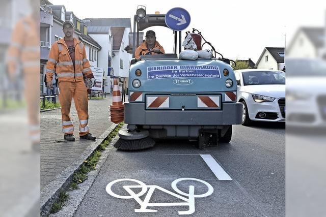 Radschutzstreifen sind endlich da