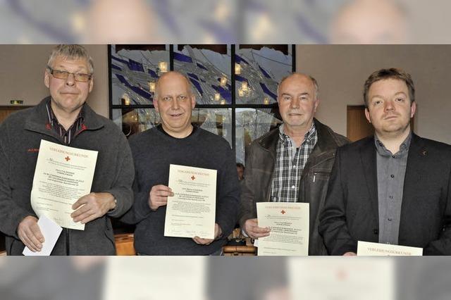 Vier Gundelfinger haben gemeinsam 100 Liter Blut gespendet