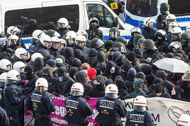 Randale bei AfD-Parteitag in Stuttgart