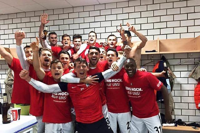 So feiert der SC Freiburg den Wiederaufstieg