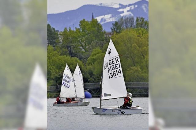 Auf dem Flückigersee gab's die erste Segelregatta für Schüler