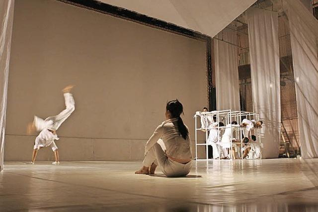 Die gehörlose Tanzkompanie Together Higher in der Oberrheinhalle