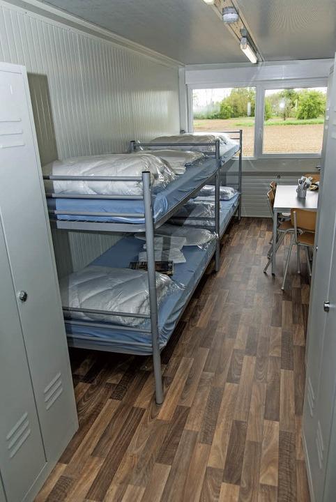 In den Wohncontainern ist Platz für vier Menschen.  | Foto: Olaf Michel
