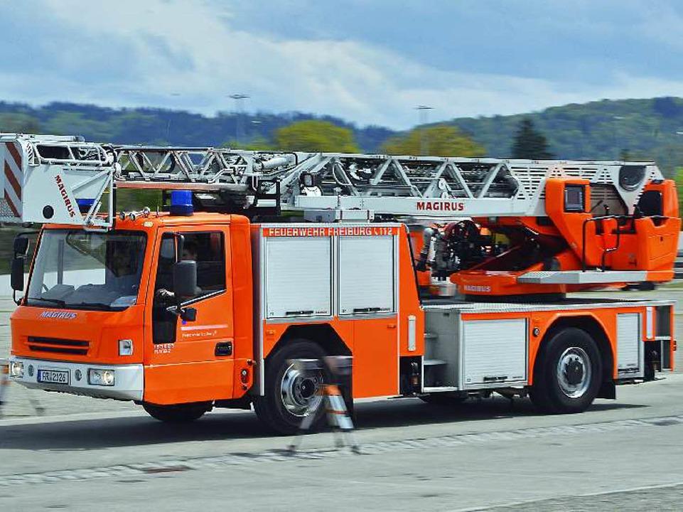 Sicherheitstraining der Feuerwehr auf der Freiburger Messe  | Foto: Michael Bamberger