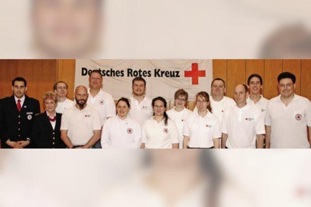 DRK-Helfer 10 000 Stunden im Einsatz