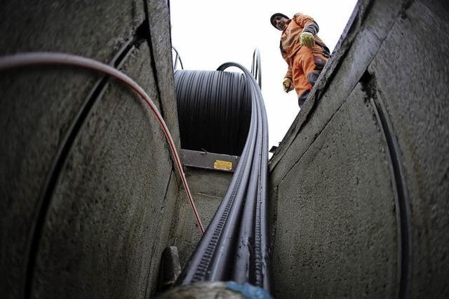Das Breitbandnetz in Staufen wächst