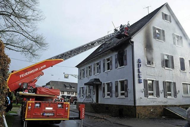 Zwei Verletzte nach Brand im