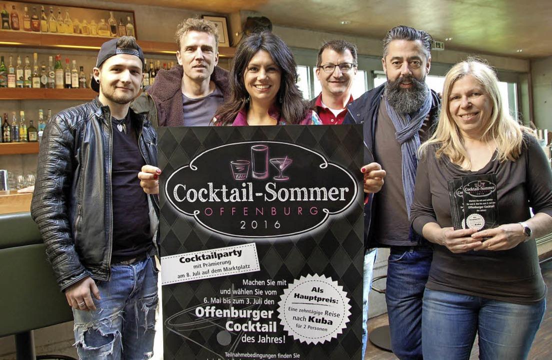 Präsentierten den Cocktail-Sommer (von...und Andrea Dell'Olio (Laufsteg)   | Foto: Hubert Röderer
