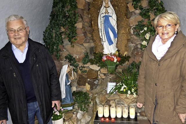 Lourdes ist Pilgerort auch in Hohberg