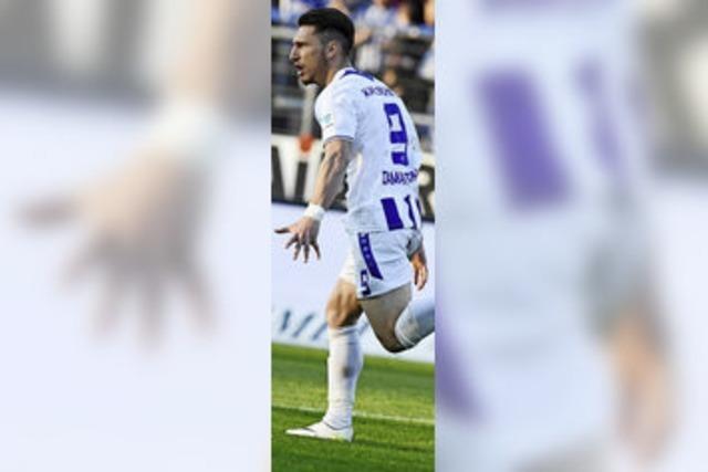 Diamatakos trifft doppelt für den KSC im Derby gegen Sandhausen