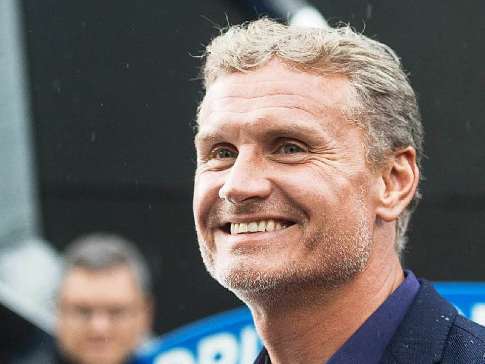 David Coulthard posiert im Europa-Park  | Foto: dpa