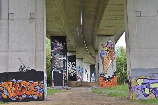 Geführte Graffiti-Touren durch die Bridge Gallery in Lörrach
