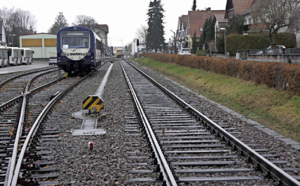 Wichtige Ausweich- und Rangiergleise? ... eisenbahnbetriebliche Notwendigkeit.   | Foto: Martin Wendel